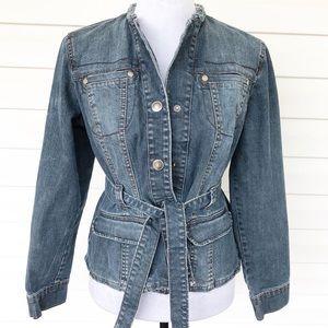 Jeanstar custom cropped denim jacket Size S